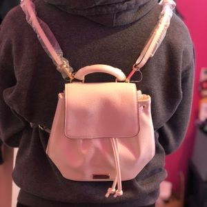 NWT: Victoria secret small white backpack
